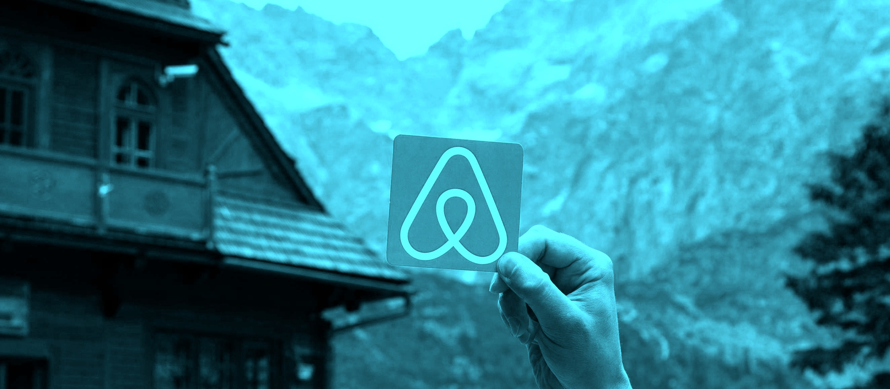 Airbnb blue photo